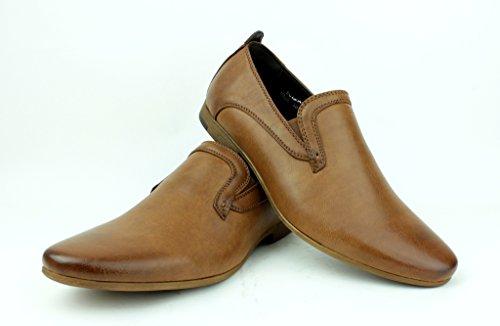 Hombre Nuevo Mocasines Casuales Mocasines Elegante Formal Office zapatos núm. RU Tostado
