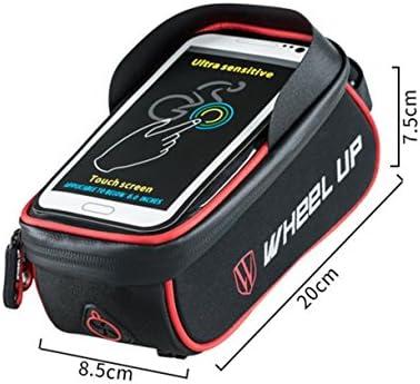 Selighting Fahrradtasche Wasserdicht Fahrrad Rahmentasche Oberrohrtasche Fahrrad Handy Halterung f/ür 6 Zoll Handy
