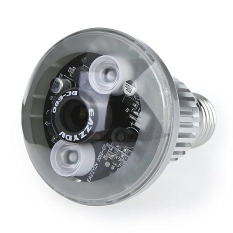 Cámara CCTV espia oculta en bombilla, con grabadora DVR, detección de movimiento y visión nocturna: Amazon.es: Electrónica