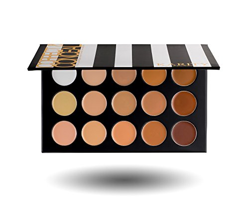 15 Full Coverage Highly Pigmented Cream Based Professional Concealer Palette Face Makeup Kit Set Pro Palette High-end Formula by Karity Cosmetics
