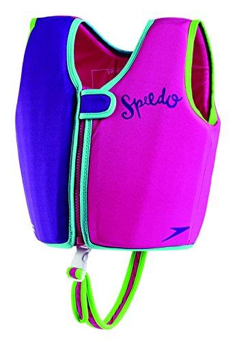 Speedo Kids' UPF 50+ Begin to Swim Classic Swim Vest, Purple/Pink, Medium