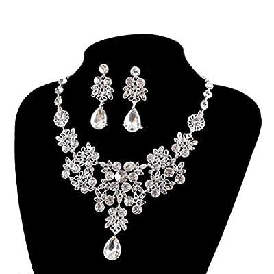 Cheap Susenstone Women's Wedding Jewellery Sets Fashion Bride Earrings & Pendant Necklace supplier