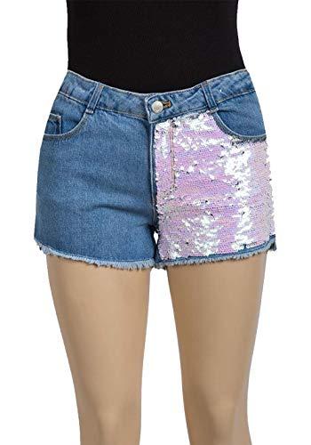 9605ac45 Miss Vanilla Zara Ex Chain Girls Sequin Denim Shorts 4-14 Years (8 Years