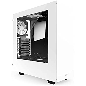 NZXT S340 Mid Tower Computer Case, White (CA-S340W-W1)