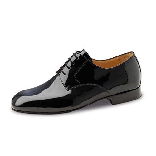Werner Kern–Hombre Zapatos de baile 28040–Barniz negro–para ancho pies