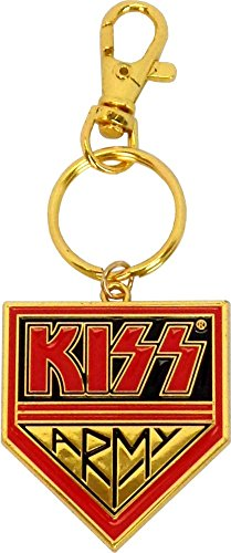 (KISS Army - Logo on Gold - Key Chain )