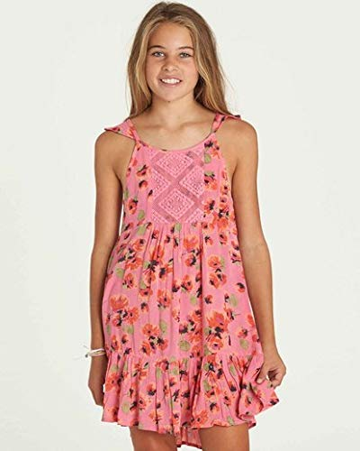 Billabong Girls' Big Sundazer Dress, Tahiti Pink, M ()
