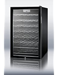 Summit SWC525LBIADA Wine Chiller Beverage Refrigerator, Glass/Black