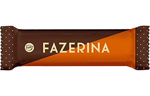 Dark Chocolate Orange Truffles - Fazer Fazerina - Finnish - Milk Chocolate with Orange Truffle filling - Box - 35 Bars x 37 g