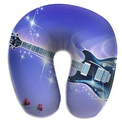 Laurel Neck Pillow Guitar Art Travel U-Shaped Pillow Soft Memory Neck Support for Train Airplane Sleeping