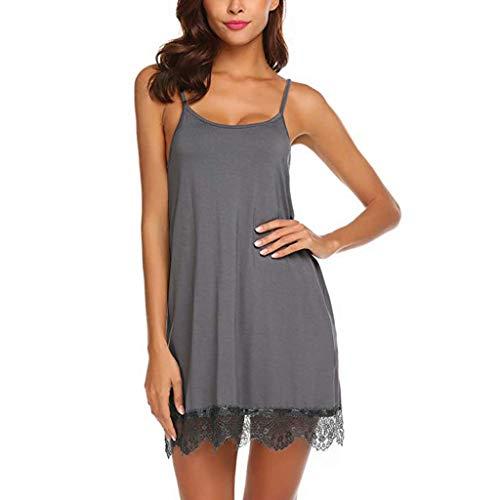 Pervobs Womens Sexy Lace Babydoll Sleepwear Nightwear Camisole Mesh Loose Lingerie Underwear Lingerie(XL, Brown) by Pervobs Lingerie & Sleepwear (Image #2)