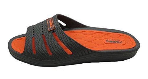 Air Light & Comfortable Classy Shower Beach Sandalia Zapatillas Gris / Naranja