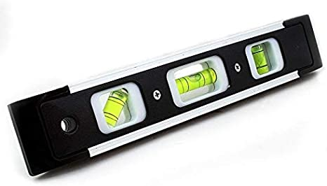 "180 Degrees Angles Stark 9/"" Torpedo Level Tool Leveling Magnetic Shock Resistant with 3 Different High Visibility 45 90"