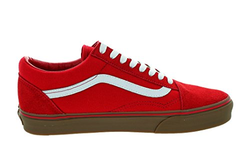 Homme Basses Vans Sneakers Red formula Marron Gum Rouge One wvvPE