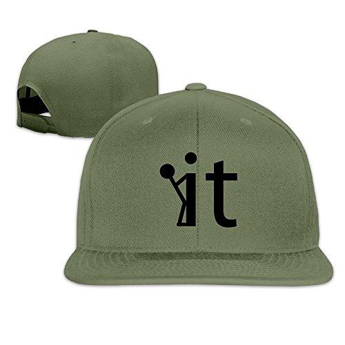 Nquqiyilu Men Screw It Fuck It Stick Figure Classic Golf ForestGreen Hats Adjustable Snapback ()