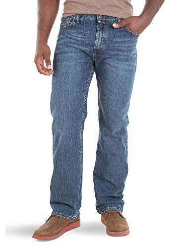 Wrangler Authentics Men's Big & Tall Regular Fit Comfort Flex Waist Jean, Blue Ocean, 46x30