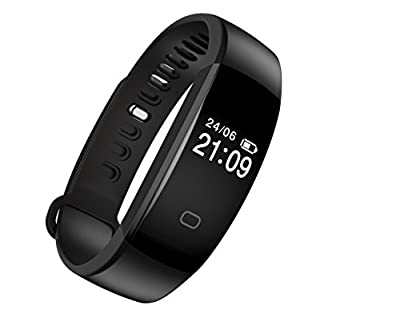 Fitness Tracker, Activity Tracker Smart Band Wireless Watch Bluetooth 4.0 Wristband Waterproof IP67 Bracelet with Heart Rate Monitor, pedometer, Calories track, Sleep monitor