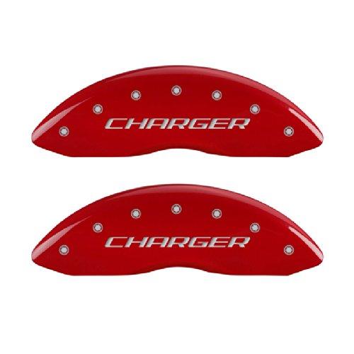 MGP Caliper Covers 12162SCHRRD Caliper Cover with Red Powder Coat Finish, (Set of 4)