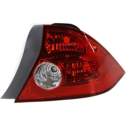 Tail Light Compatible with HONDA CIVIC 2004-2005 RH Lens and Housing Coupe