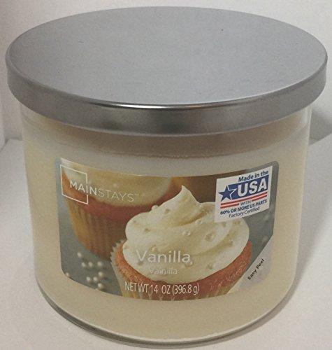 Mainstays Jar Candle Vanilla, Ivory 14 OZ