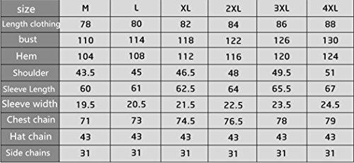 Rivestimento Invernale Cotone Velluto Dimensioni Sezione Sottile Grandi Casual Kaki In Nel 2xl Giacca La Di Lungo Più Cdqfdx