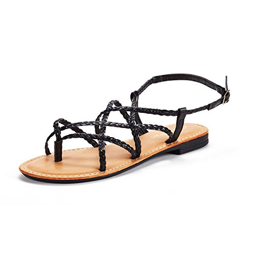 d77a1178554caa DREAM PAIRS Women s Slipp 01 Fashion Crossover Thong Design Slides Flat  Sandals - Buy Online in Oman.