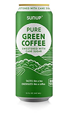 """Sunup Pure Green Coffee Latte, Unsweetened, Natural Coffee Made From Raw""""Green"""" Coffee Beans, 12 Pack"""