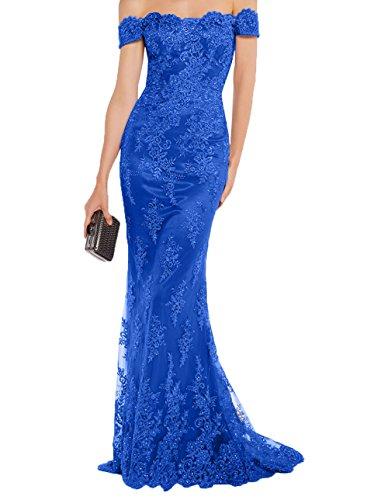 Royal Tanzenkleider Abendkleider Festlichkleider Lang Blau Lawender Charmant Damen Promkleider Meerjungfrau 2018 Spitze Formalkleider qPwZZA