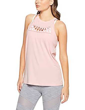 Lorna Jane Women Hatha Tank, Whisper Pink, Small