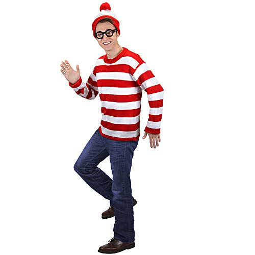 Where's Waldo Wally Deluxe Adult Costume ()
