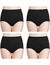 34752cf673c7 Women's Cotton Underwear High Waist Full Coverage Brief Panty Multipack
