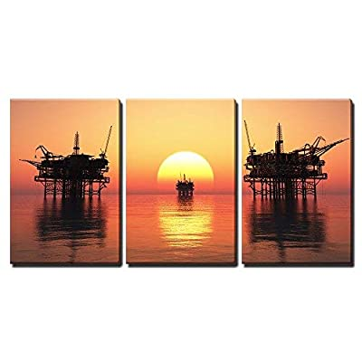 Oil Rig at Late Evening x3 Panels, Made For You, Magnificent Design