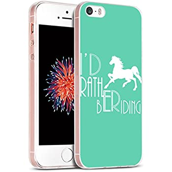 Iphone SE Case Horse/ IWONE Apple Iphone 5S 5 SE Case Tpu Skin Cover Protective Rubber Silicone + Horse Design Animal Quotes