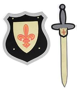 Grandes imitaciones -  espada y escudo de juguete para disfraz de caballero
