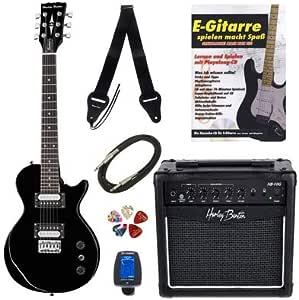 Kit completo de guitarra eléctrica para niños Harley Benton SC-200BK Mini Bundle: Amazon.es: Instrumentos musicales