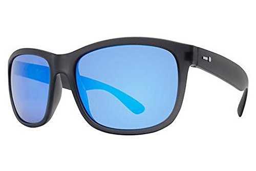 Dot Dash Poseur Adult Sunglasses, Soft Charcoal Satin/Ice Blue - Csi Sunglasses