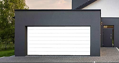 Clausa Puerta de Garaje motorisable, Acero, Blanco, 10 x 300 ...
