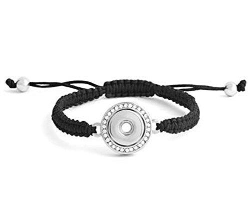 Ginger Snaps Petite Single Snap Bling Woven Bracelet