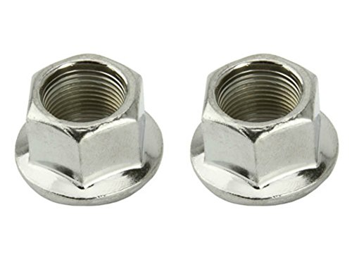 Lowrider 2 - Flange Nuts 14mm Chrome. Set of axle nut. Pair of axle nut. Bicycle nut, bike nut, beach cruiser, chopper, mountain, limo by Lowrider