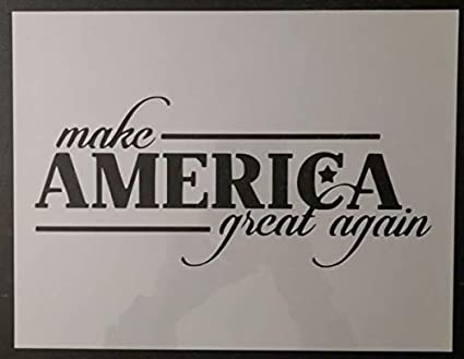 Amazon com: Custom Stencil Trump Make America Great Again