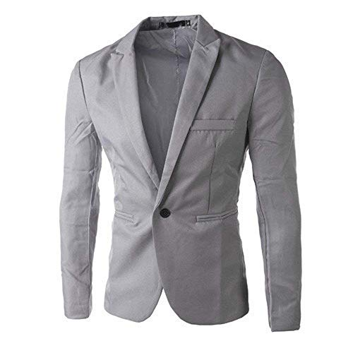 Grau Button Suit Uomo One Charm Top Fashion Blazer Men's Coat Casual Slim Saoye Fit Giovane Moda Giacca vqHFaznwI