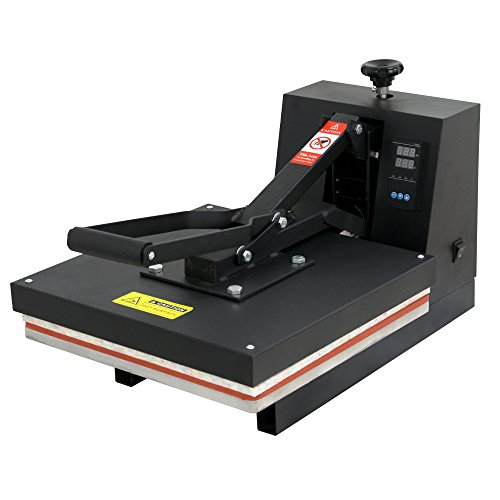 F2C 15'' X 15'' Teflon Pro Home Digital Clamshell T-shirt Heat Press Heat Transfer Press Machine by F2C