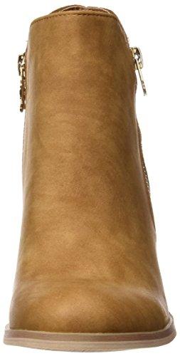 XTI 046567, Botines para Mujer Hueso (Camel)
