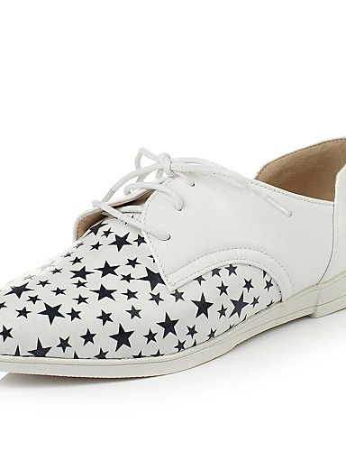 Richelieu Chaussures Similicuir Cn39 Or Uk6 Golden us8 Talon Pointu Eu39 Bout Blanc Njx Compensé Femme Habillé RzvqqS1