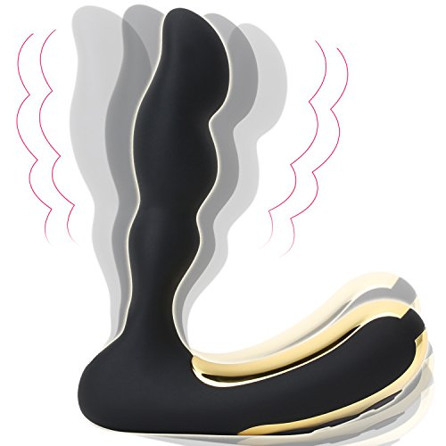 Anal Vibrator, 10 Patterns Vibrating Prostate Massager, Silicone Waterproof G Spot Vibrator, USB Magnetic Rechargeable Butt Plug, Sex Toys for Men Women and Couples by SOCU