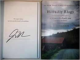 image for Hillbilly Elegy AUTOGRAPHED by J.D. Vance (SIGNED EDITION)