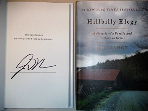 Book cover from Hillbilly Elegy AUTOGRAPHED by J.D. Vance (SIGNED EDITION) by J.D. Vance