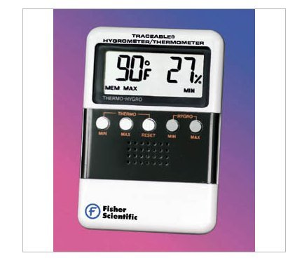 Fisher Scientific Digital Humidity/Temperature Meter w/ Temperature Memory Readout