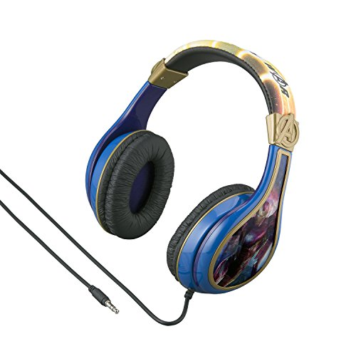 Avengers Infinity War Headphones for Kids with Built in Volume Limiting Feature for Kid Friendly Safe Listening by eKids