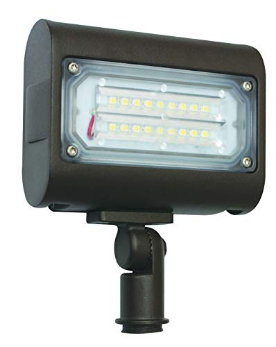 15w LED Flood Light, Daylight White (5000K), 1663 Lumens, 100/277v, Knuckle Mount, DLC UL IP65 Certified, 50w HID Replacement